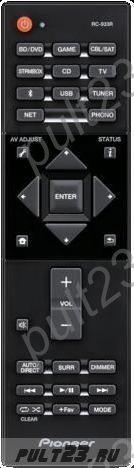 PIONEER RC-933R, SX-S30, SX-S30DAB, VSX-S520, VSX-D520D